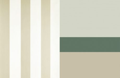 FARROW&BALL (ペイント)No.285 Cromarty / No.47 Green Smoke / No.283 Drop Cloth (壁紙) Plain Stripe ST 1173