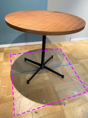 テーブル,ペイントHOWTO,養生,作業スペース作り
