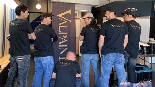 VALPAINT、施工チーム
