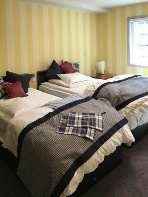 Farrow&Ball、壁紙、寝室、ストライプ、Broad Stripe ST 1322