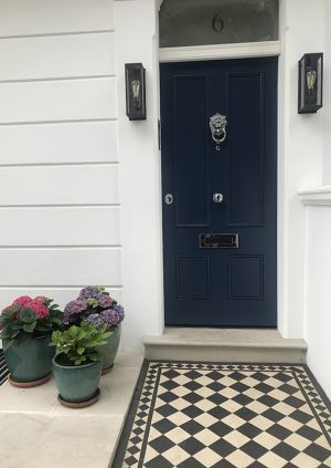 farrow&ball玄関ドアペイント