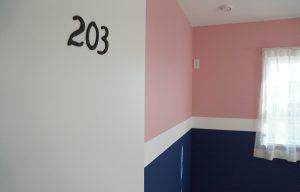 ヤマダタッケン様_ FARROW&BALL_N0.278 Nancys Blushes_No.253 Drawing Room Blue