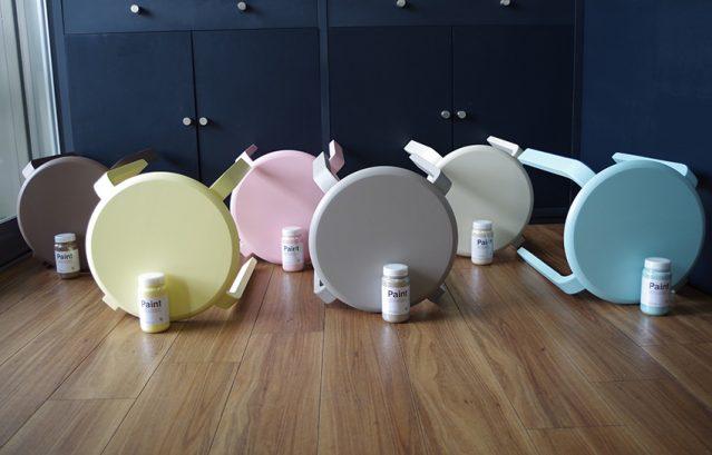 Hip mini 全39色/椅子や小さな棚を塗れる水性塗料