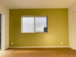 Farrow&Ball_No.251 Churlish Green_寝室_apartment56-1F