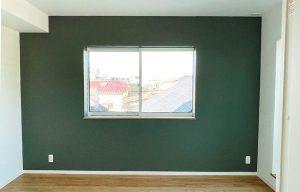 Farrow&Ball_No.47 Green Smoke_寝室_apartment56-3F