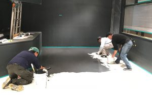 カラーワークスの工事/MPCで床の施工