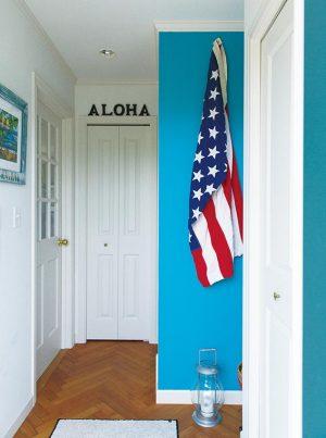 カラーワークスの水性塗料はビニールクロスの壁紙の上からも簡単に塗れる!